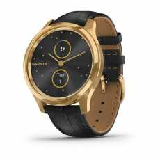 Garmin vivomove Luxe Pure Gold-Black Leather