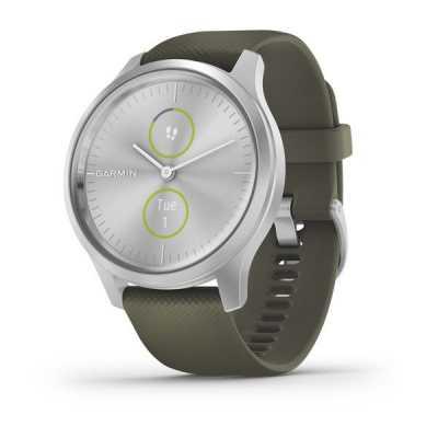Garmin vivomove Style Silver-Moss Green Silicone