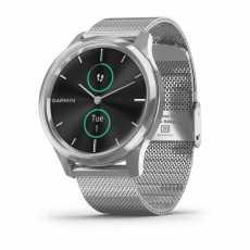 Годинник Garmin vivomove Luxe Premium Silver-Black Milanese