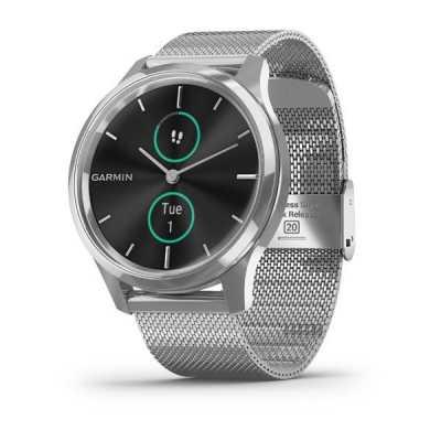 Часы Garmin vivomove Luxe Premium Silver-Black Milanese