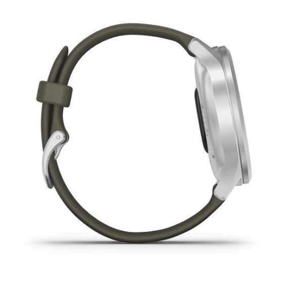 Часы для спорта Garmin vivomove Style Silver-Moss Green Silicone (010-02240-21)