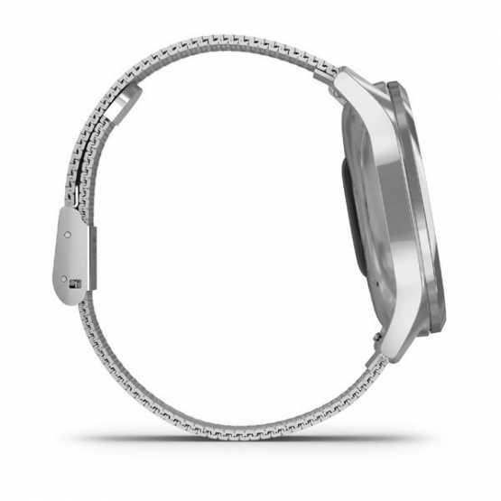 Часы для спорта Garmin vivomove Luxe Premium Silver-Black Milanese (010-02241-23)