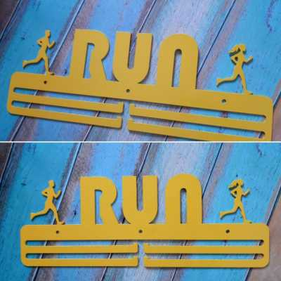 "Медальница ""КТМ"" RUN №3 Сталева (жовтий)"