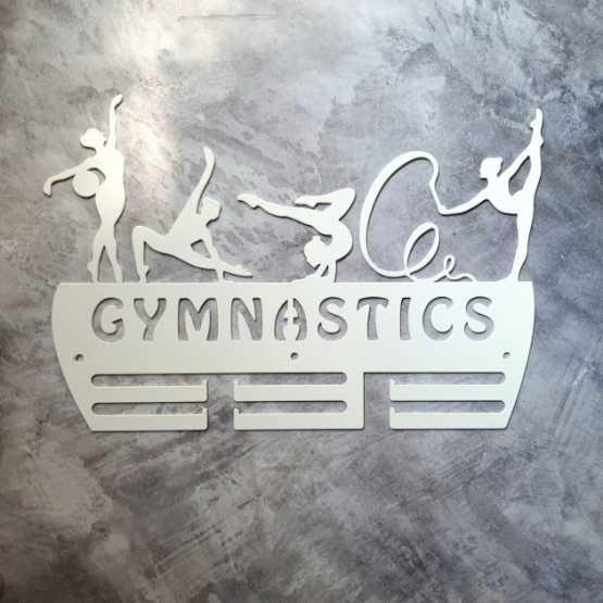 "Медальница ""КТМ"" GYMNASTICS №2.1 Гімнастика Сталева (білий)"