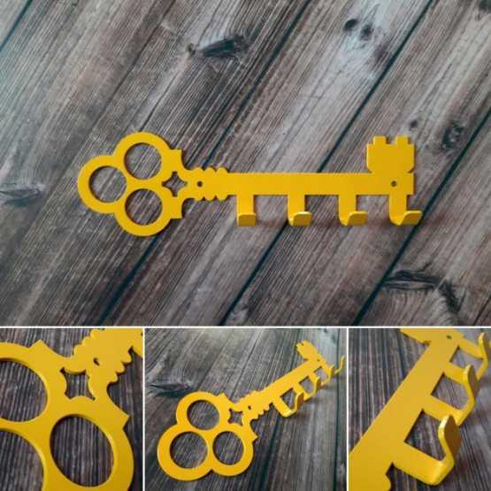"""Ключниця №2 """"КТМ"""" Сталева (жовтий)"""