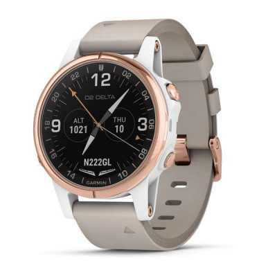 Garmin D2 Delta S Sapphire White Rose Gold w/White Band GPS EMEA