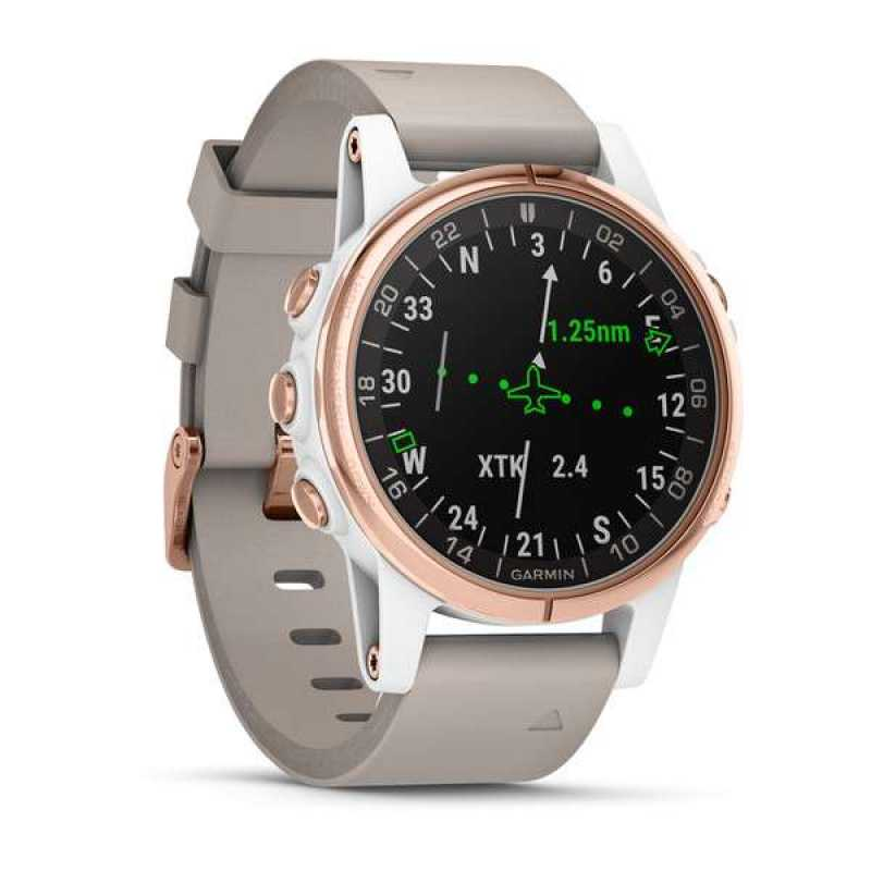 Элегантные авиационные часы Garmin D2 Delta S Sapphire White Rose Gold w/White Band GPS EMEA (010-01987-31)