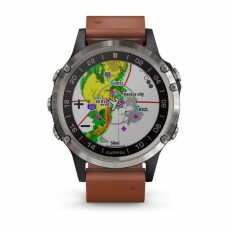 Garmin D2 Delta Sapphire Black w/Brown Leather Band GPS Watch EMEA