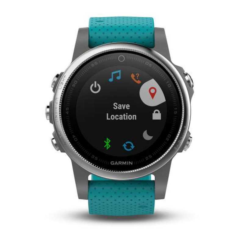 Garmin Fenix 5S - Silver with turquoise band