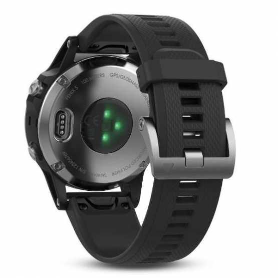 Garmin Fenix 5 Silver with Black Band (010-01688-03)