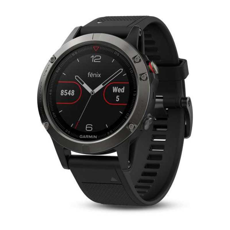 Garmin Fenix 5 - Slate grey with black band