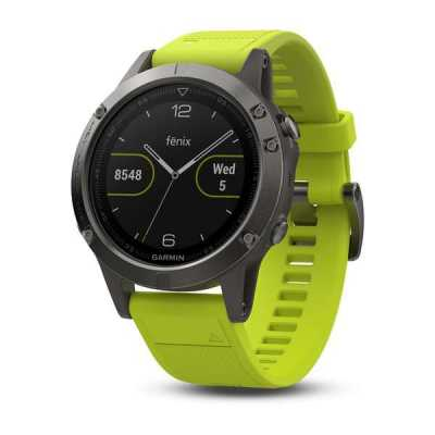 Garmin Fenix 5 - Slate grey with amp yellow band