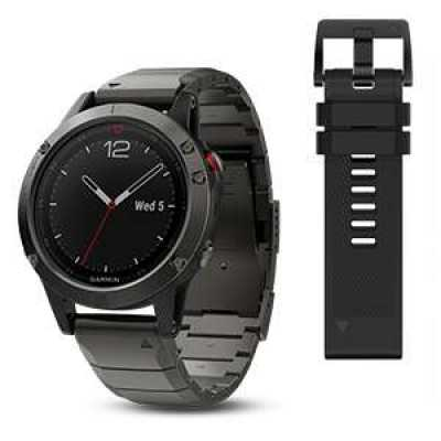 Garmin Fenix 5 Sapphire Slate grey with metal band