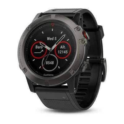 Garmin Fenix 5X Sapphire - Slate grey with black band