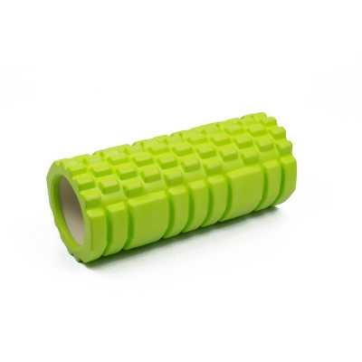 Масажний ролик EasyFit Grid Roller EF11 33 см (зелений, ролер, валик, циліндр)