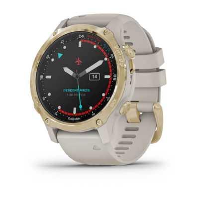 Годинник для дайвінгу Garmin Descent Mk2S Light Gold with Light Sand Silicone Band