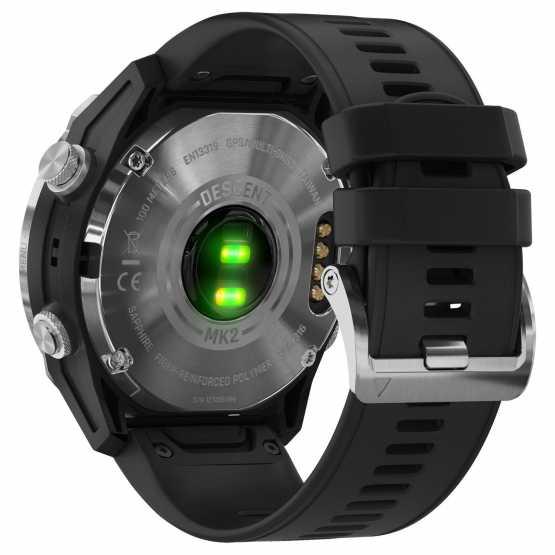 Мультиспортивные часы для дайвинга Garmin Descent Mk2 Stainless Steel with Black Band (010-02132-10)
