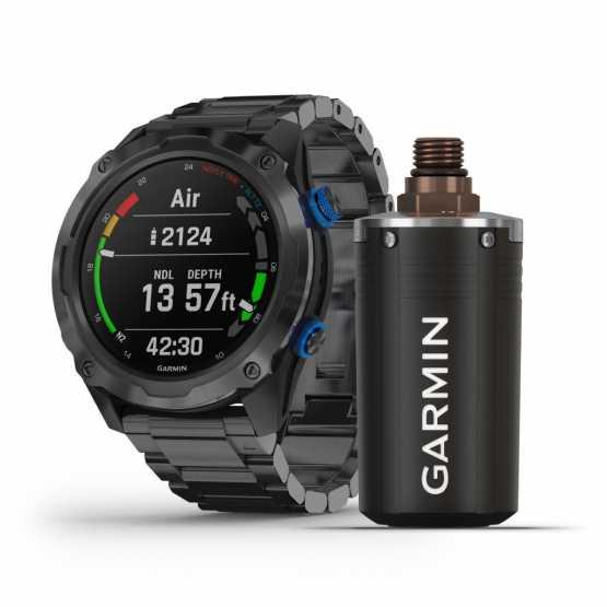 Мультиспортивних годинник для дайвінга Garmin Descent Mk2i Carbon Titanium Gray DLC with Black Band (010-02132-11)