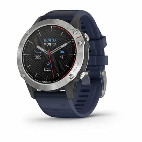 Морські годинник для спорту Garmin Quatix 6 Gray with Captain Blue Band (010-02158-91)