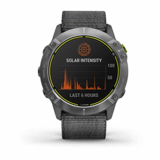 Годинник для мультиспорту Garmin Enduro Steel with Gray UltraFit Nylon Strap (010-02408-00)
