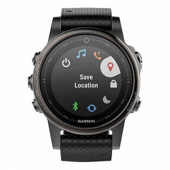 Часы для мультиспорта Garmin Fenix 5S Sapphire - Slate grey with black band (010-01685-11)