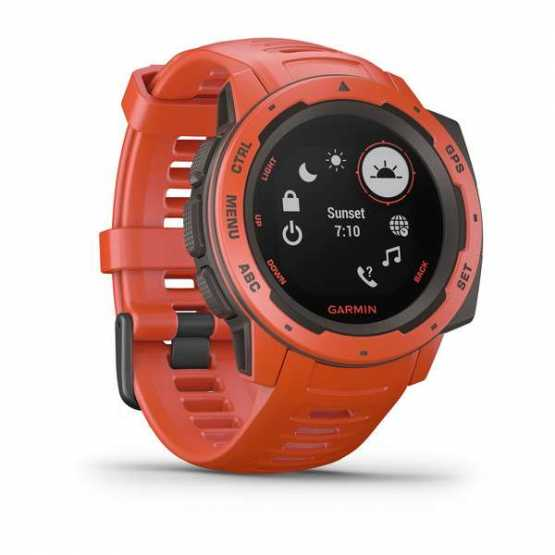 Годинник для мультиспорту Garmin Instinct Flame Red (010-02064-02)