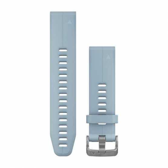 Ремешок для Garmin Fenix 5S Plus 20mm QuickFit Sea Foam Blue Silicone Band (010-12739-03)