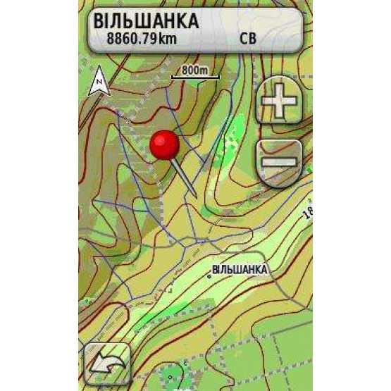 Топографічна карта України для Garmin