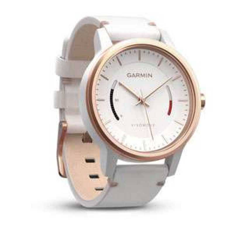 Garmin Vivomove Classic, Rose Gold-Tone with Leather Band