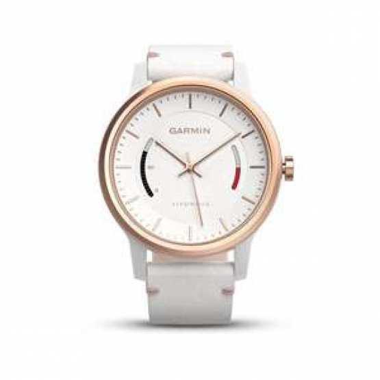 Фитнес часы Garmin Vivomove Classic, Rose Gold-Tone with Leather Band (010-01597-11)