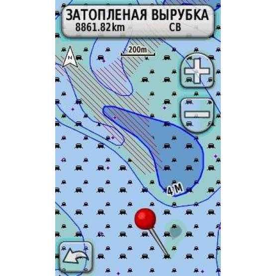 Топ карта рек Днепра и Дунай для Garmin