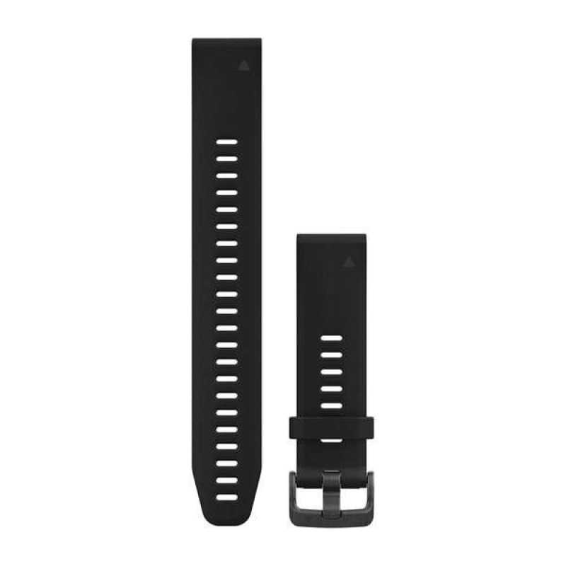 Ремешок для Garmin Fenix 5S Plus 20mm QuickFit Black Silicone Large Band