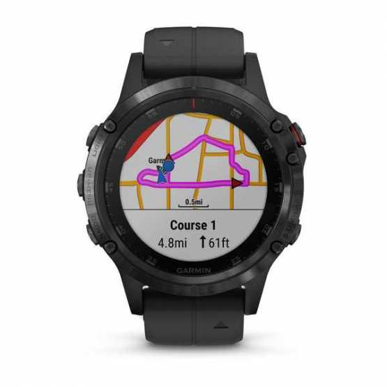 Часы для мультиспорта Garmin Fenix 5 Plus Sapphire, Black with Black Band (010-01988-01)