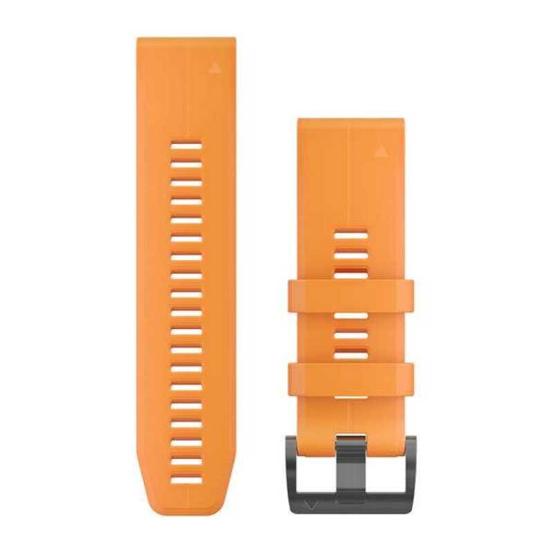 Ремешок для Garmin Fenix 5X Plus 26mm QuickFit Spark Orange Silicone