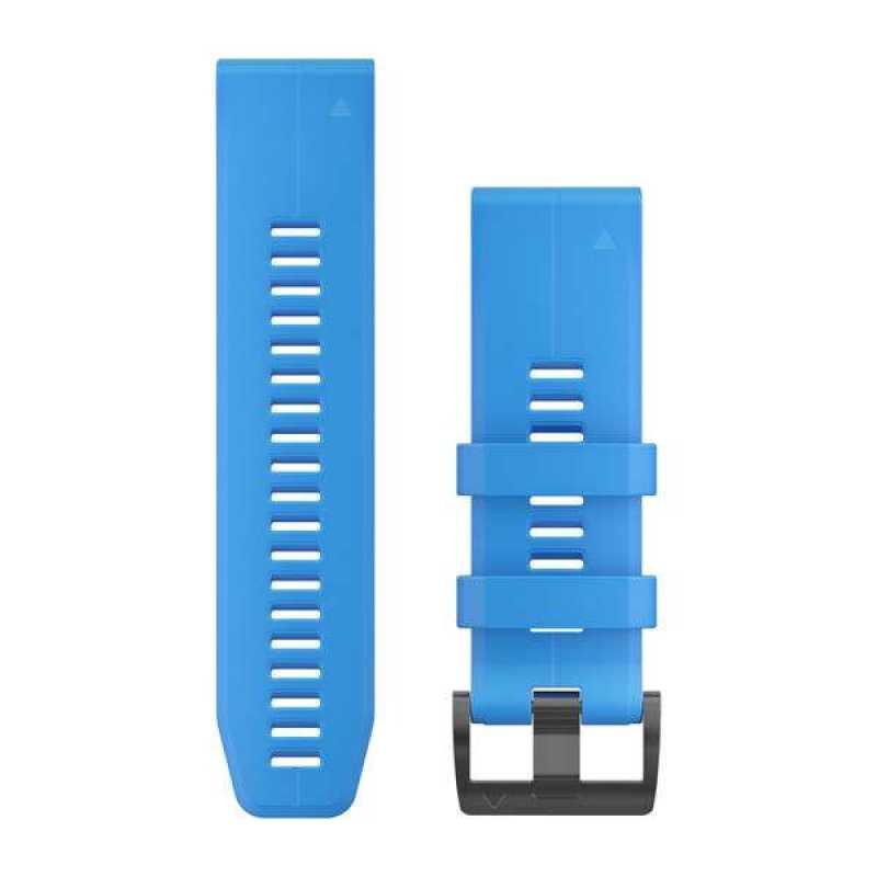 Ремешок для Garmin Fenix 5X Plus 26mm QuickFit Cyan Blue Silicone Band