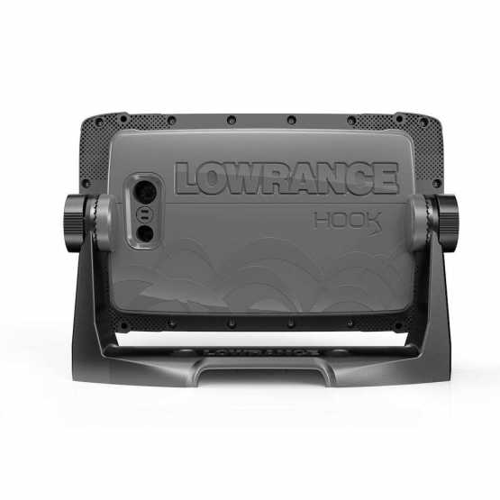 Эхолот картплоттер Lowrance Hook 27x GPS Splitshot + Акция: струбцина в подарок (000-14020-001)