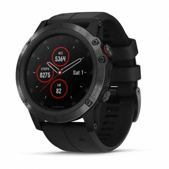Часы для мультиспорта Garmin Fenix 5X Plus Sapphire, Black with Black Band (010-01989-01)