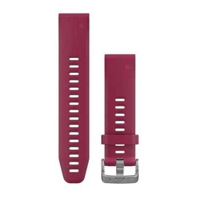 Ремешок для Garmin Fenix 5S Plus 20mm QuickFit Cerise Silicone Band