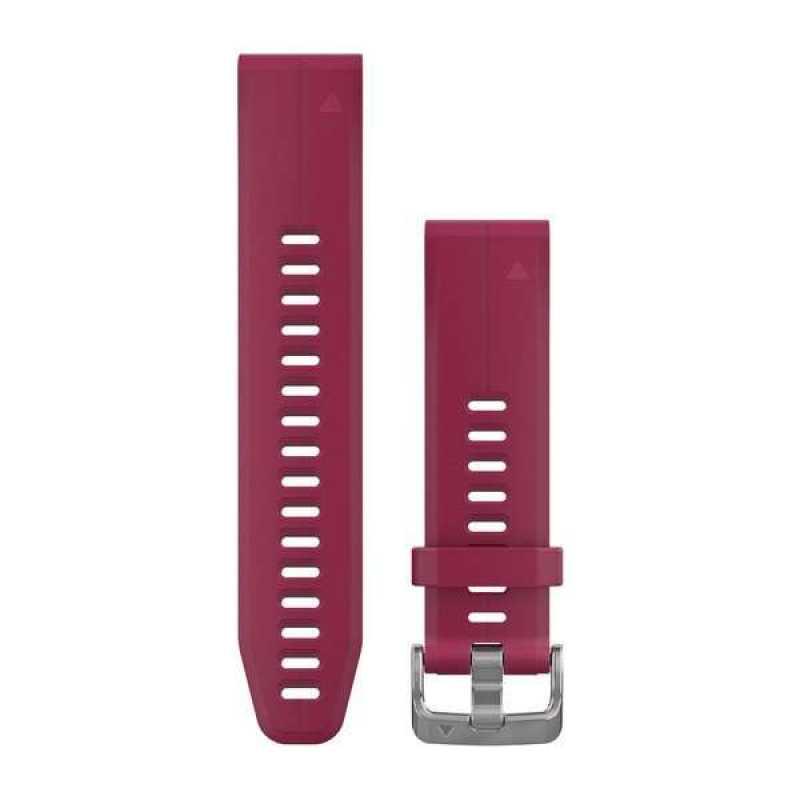 Ремешок для Garmin Fenix 5S Plus 20mm QuickFit Cerise Silicone Band (010-12739-05)