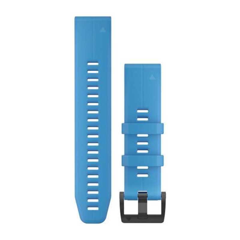 Ремешок для Garmin Fenix 5 Plus 22mm QuickFit Cyan Blue Silicone Band (010-12740-03)