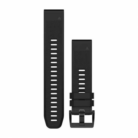 Ремінець для Fenix 5 22mm QuickFit Black Silicone Band (010-12496-00)