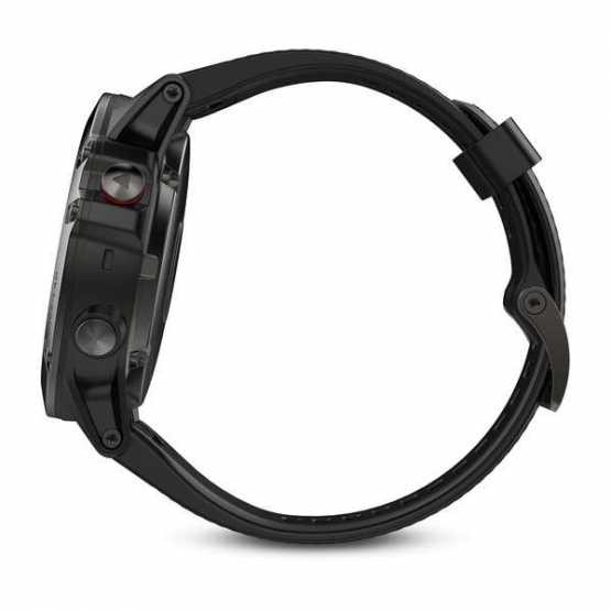 Годинник для мультиспорту Garmin Fenix 5X Sapphire - Slate grey with black band (010-01733-01)