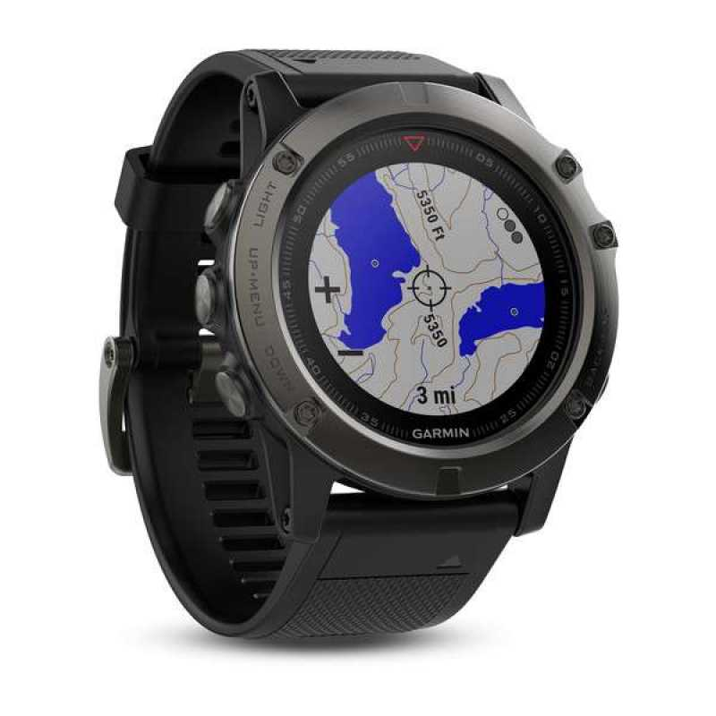 Часы для мультиспорта Garmin Fenix 5X Sapphire - Slate grey with black band (010-01733-01)