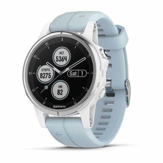 Часы для мультиспорта Garmin Fenix 5S Plus White with Sea Foam Band (010-01987-23)