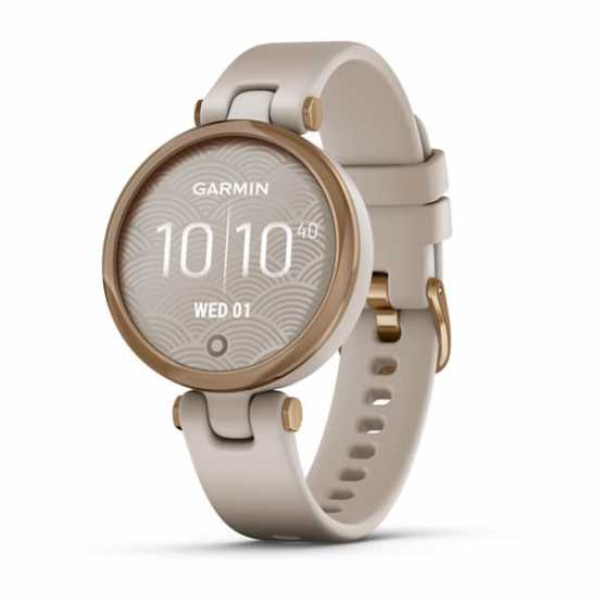 Спортивні годинник Garmin Lily Rose Gold Bezel with Light Sand Case and Silicone Band (010-02384-11)