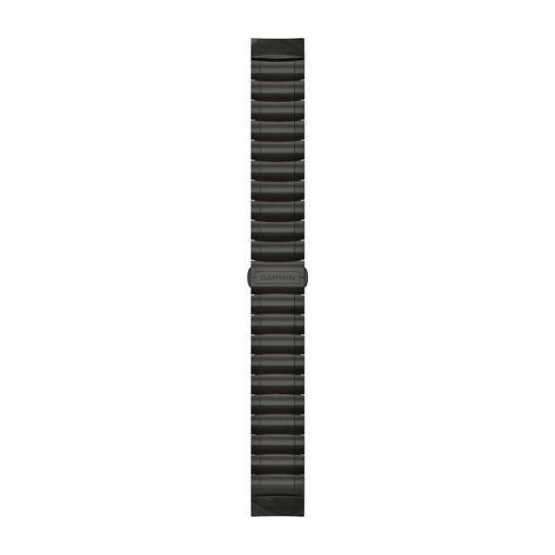 Ремешок для Garmin MARQ Hybrid Titanium/Silicone Bracelet – Carbon Gray DLC (010-12738-00)