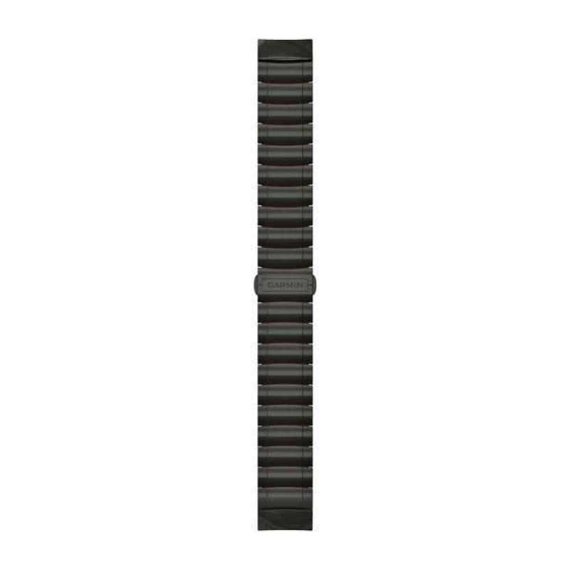 Ремінець для Garmin MARQ Hybrid Titanium/Silicone Bracelet – Carbon Gray DLC