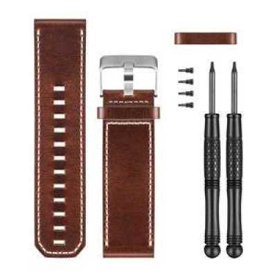 Кожаный сменный ремешок для garmin fenix 3, коричневый (копия)