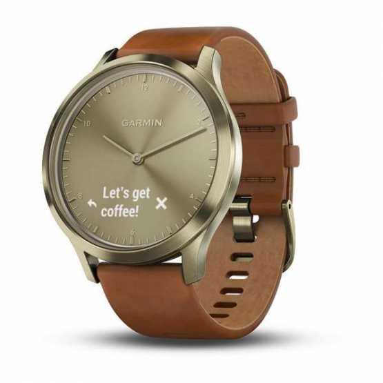 Фитнес часы Garmin Vivomove HR, E EU, Premium, Gold-Gold, S/M (010-01850-25)