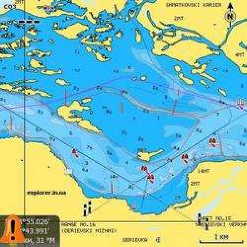 Карта NAVIONICS ДНЕПР (полное покрытие) + SonarChartsLive